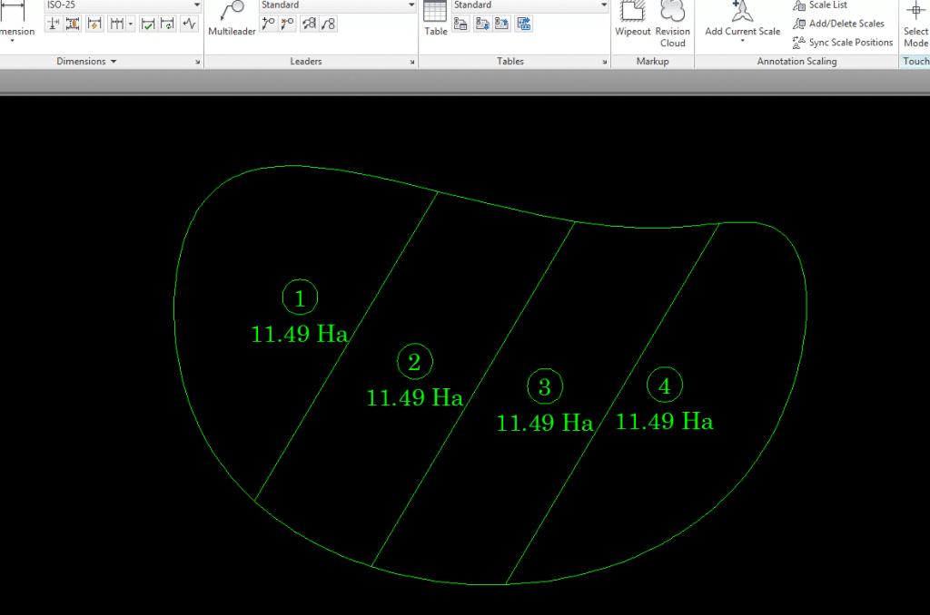 Split Area Polygon