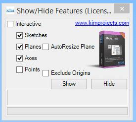 Show Hide Inventor Dialog Box