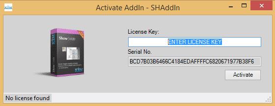 show hide plugin activation dialog box