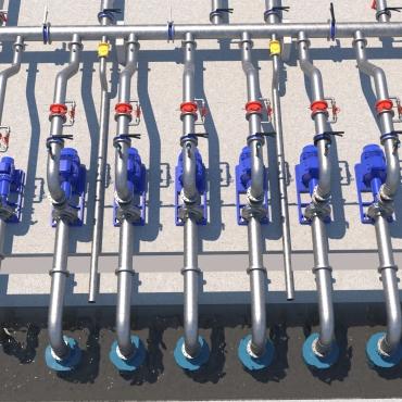3D Pump Station Irrigation